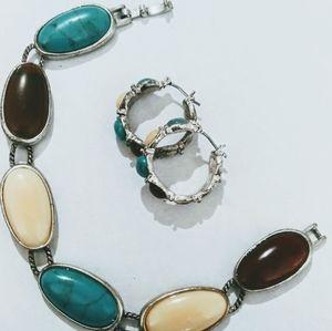 Earrings and Bracelet set NWT